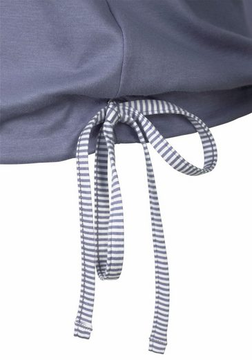 Calida Sleep Shirt With Tie Ribbon At The Hem