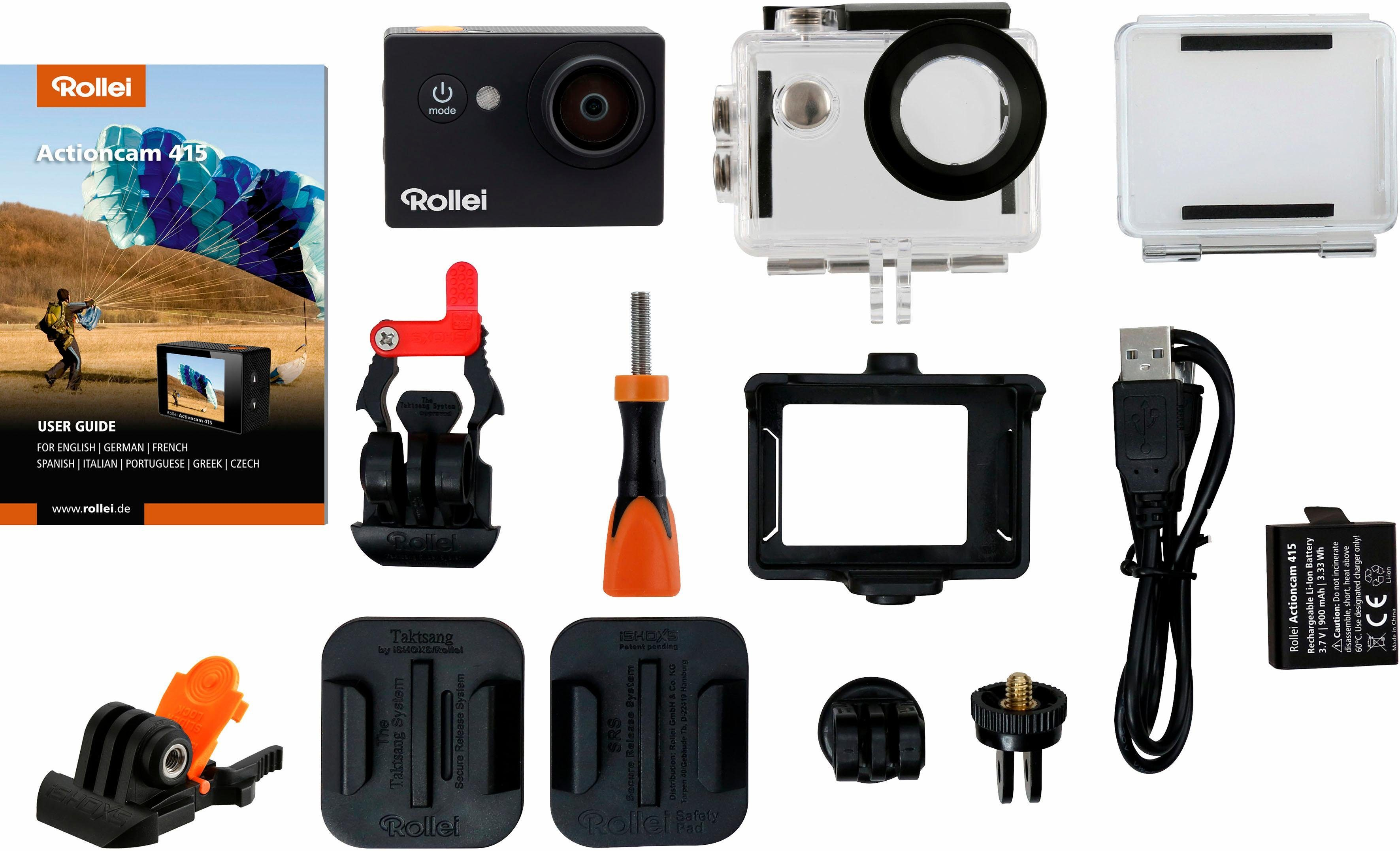 Rollei Actioncam 415 + 2. Akku 1080p (Full HD) Actioncam, WLAN