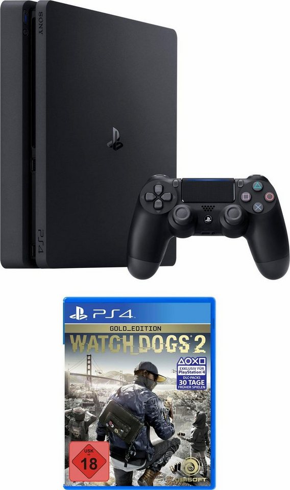 playstation 4 ps4 500gb slim watch dogs 2 gold edtition online kaufen otto. Black Bedroom Furniture Sets. Home Design Ideas