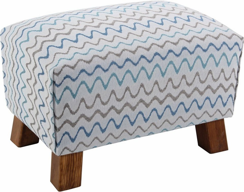 Max Winzer® Hocker »Footstool«, Retro in aqua