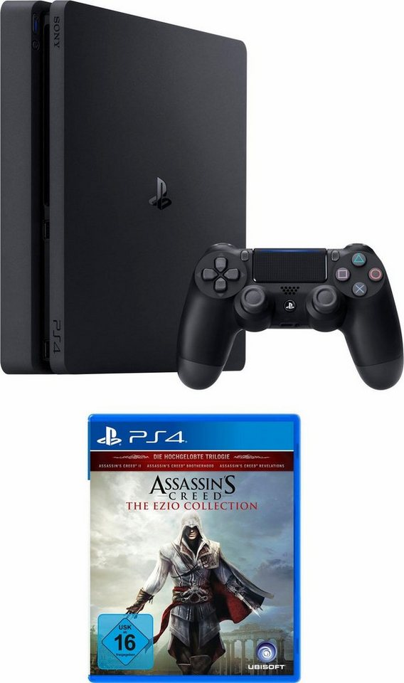 playstation 4 ps4 500gb slim assassin s creed ezio collection online kaufen otto. Black Bedroom Furniture Sets. Home Design Ideas