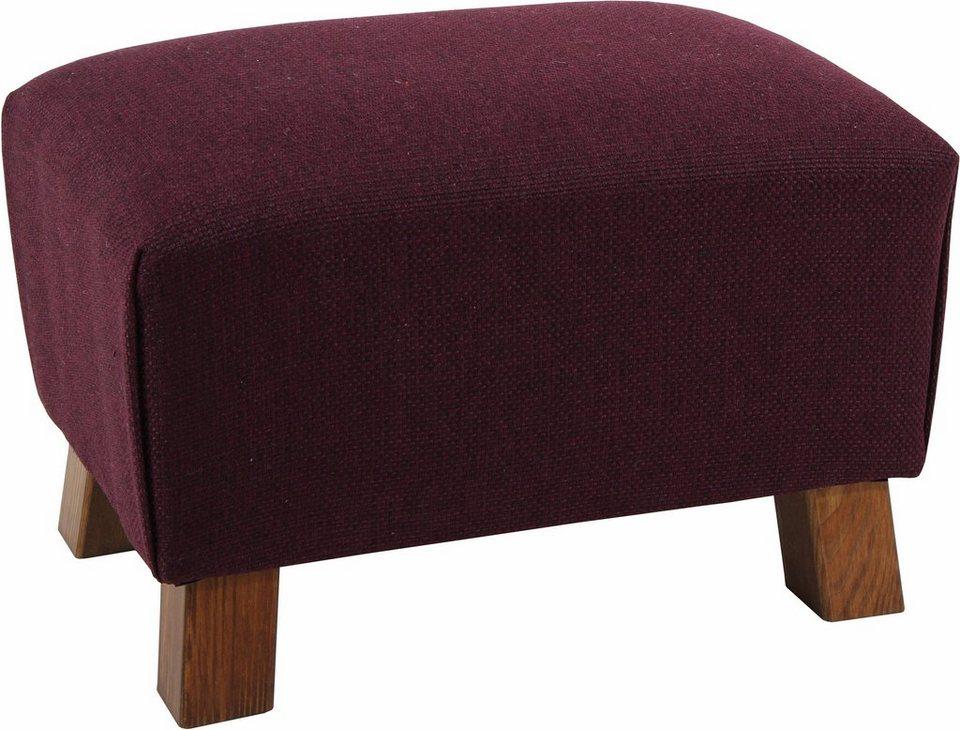Max Winzer® Hocker »Footstool«, Struktur in aubergine
