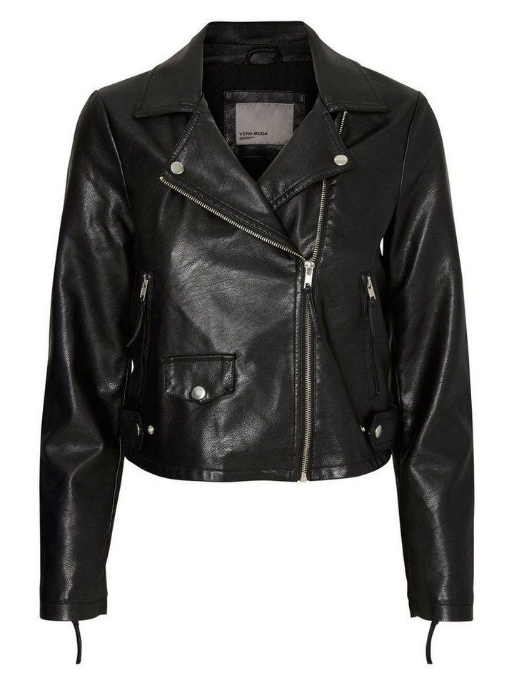 Vero Moda Lederimitat- Lederjacke in Black