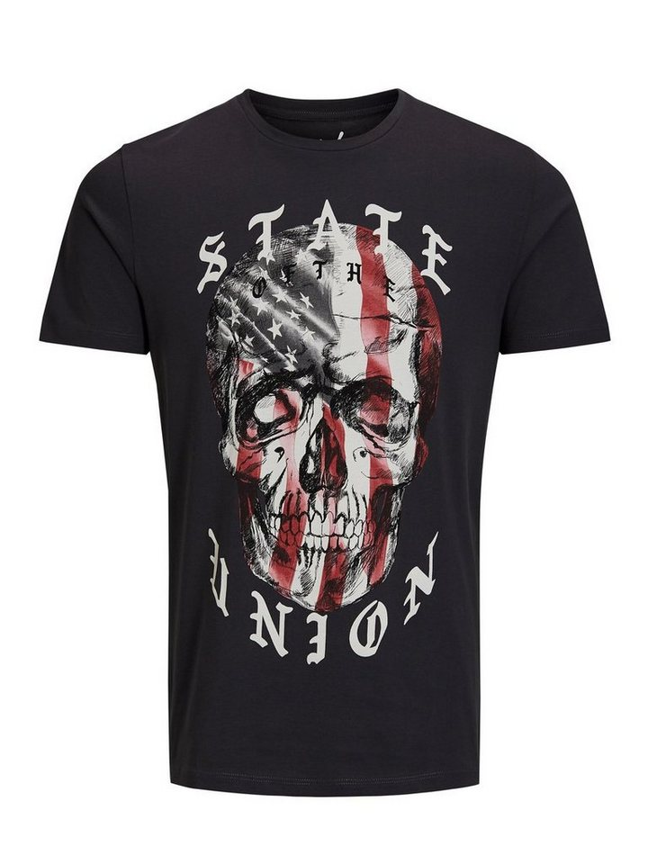 Jack & Jones Bedrucktes T-Shirt in Asphalt
