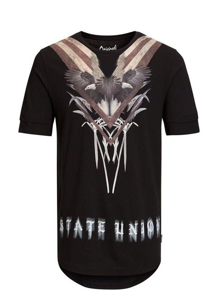 Jack & Jones Lang geschnittenes T-Shirt in Tap Shoe