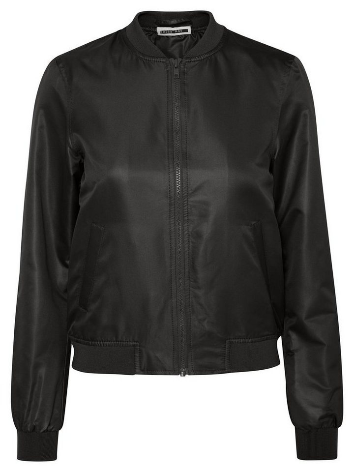 Noisy may Glänzende Bomber- Jacke in Black