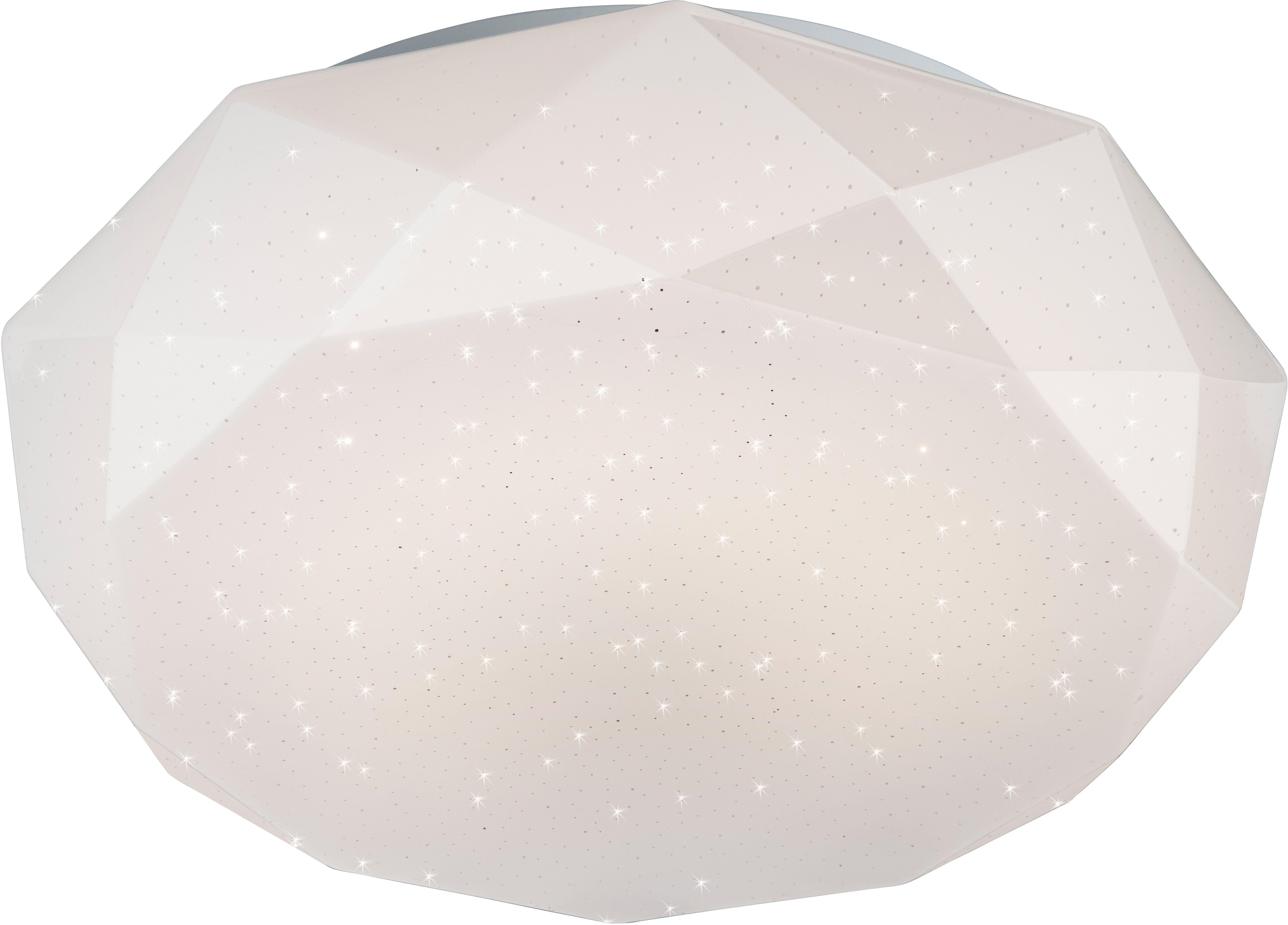 Nino Leuchten LED Deckenleuchte »DIAMOND«, mit Glitzereffekt