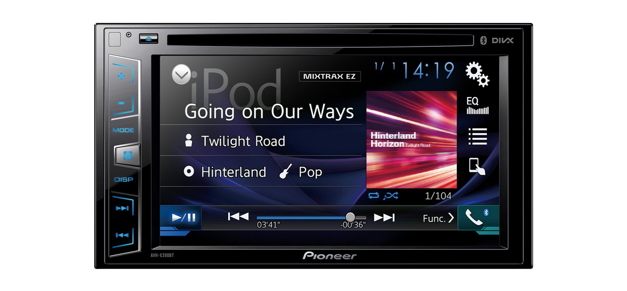 PIONEER 2-DIN Moniceiver »AVH-X390BT«