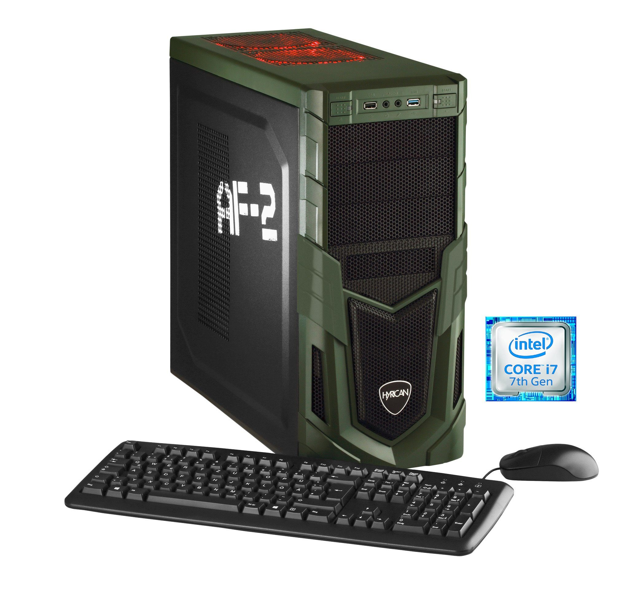 Hyrican Gaming PC Intel® i7-7700K 16GB, SSD + HDD, GeForce® GTX 1070 »Military Gaming 5477«