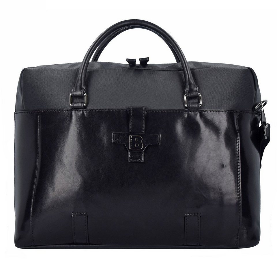 The Bridge Hydro Aktentasche Leder 42 cm in nero-gunmetal