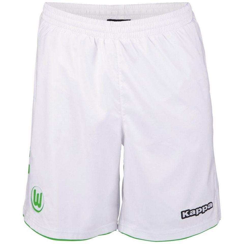 KAPPA Trikotshorts »VfL Wolfsburg Trikotshorts 15-16« in white