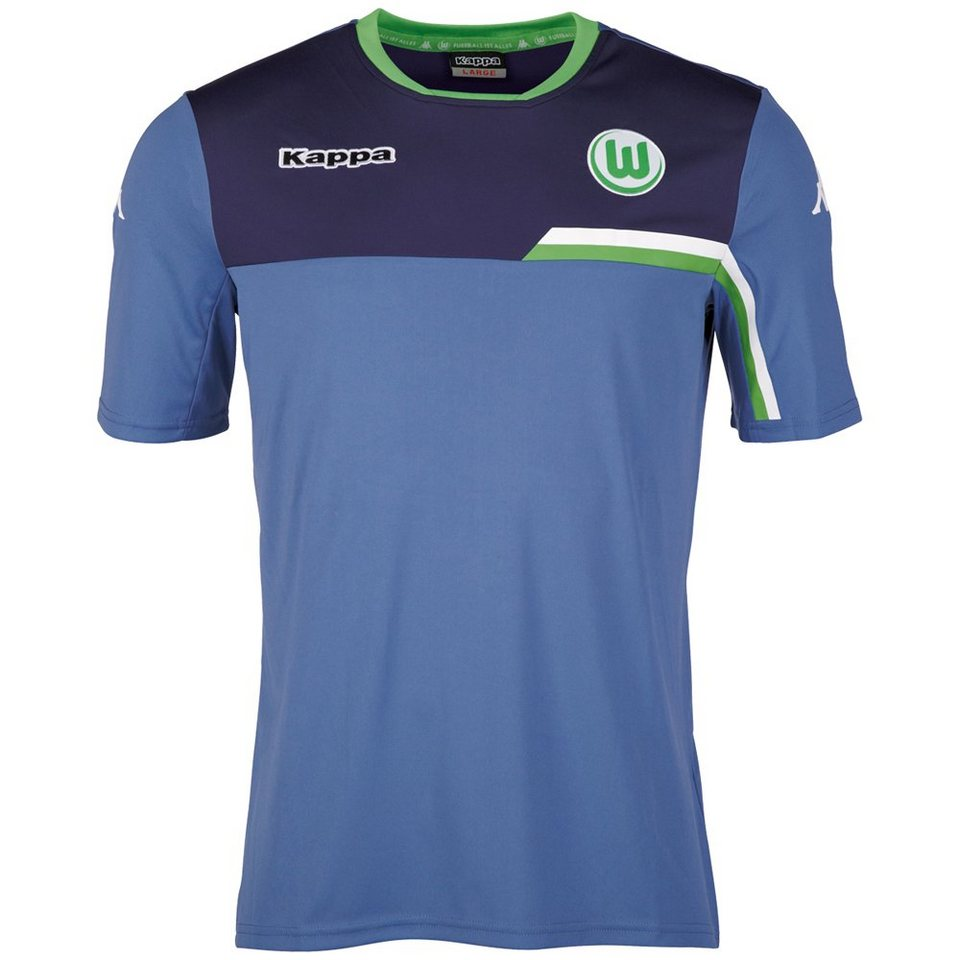 KAPPA Trainingsshirt »VfL Wolfsburg Trainingsshirt 15-16« in jeans