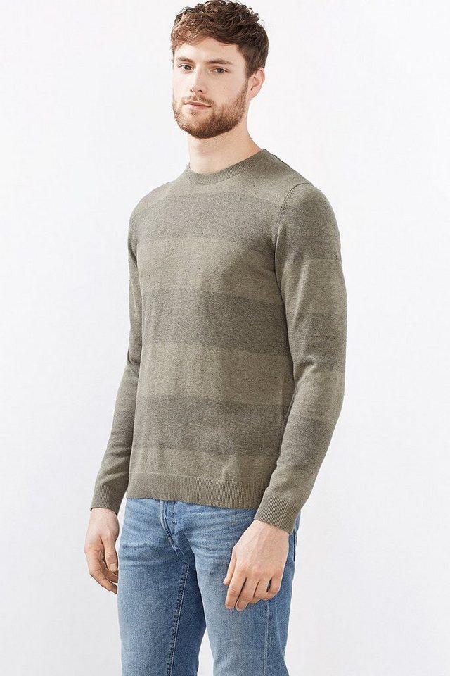 ESPRIT CASUAL Sweater aus weichem Baumwoll-Mix in LIGHT KHAKI