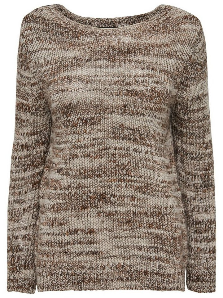 Only Lässiger Strickpullover in Deep Taupe