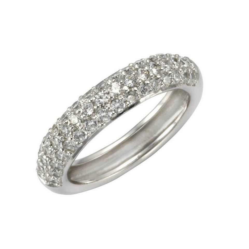CELESTA Ring »925/- Sterling Silber Zirkonia weiß« in weiß