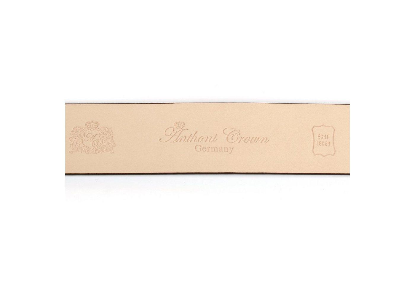 Anthoni Crown Schmaler Ledergürtel in Weiß