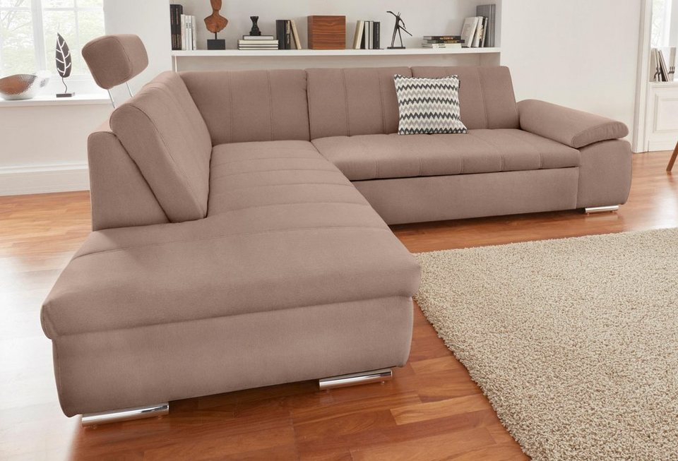 polsterecke mit ottomane wahlweise mit bettfunktion online kaufen otto. Black Bedroom Furniture Sets. Home Design Ideas
