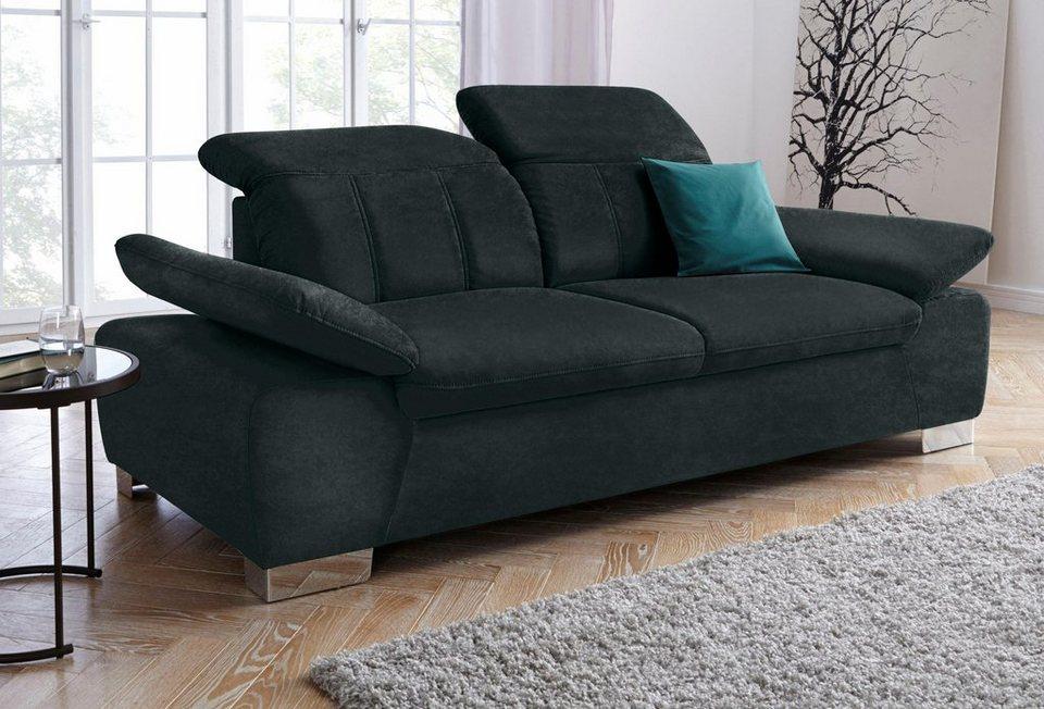 2 5 sitzer mit r ckenverstellung und federkern otto. Black Bedroom Furniture Sets. Home Design Ideas