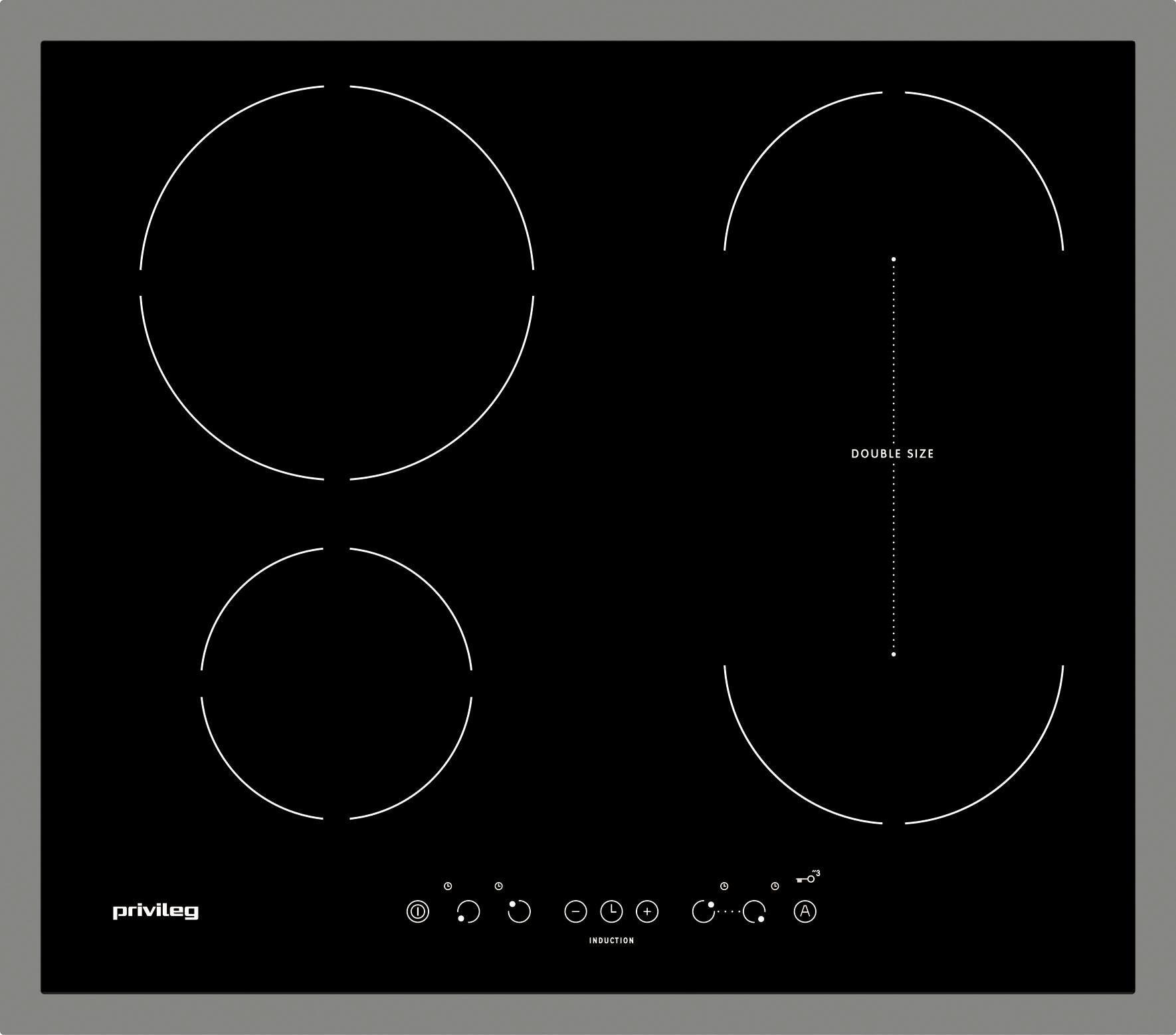 Privileg Induktions-Kochfeld PCTAI 6040C IN, mit CombiCook-Kochzone