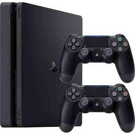 PlayStation 4 (PS4) 500GB Slim + 2 DualShock4 Wireless Controller