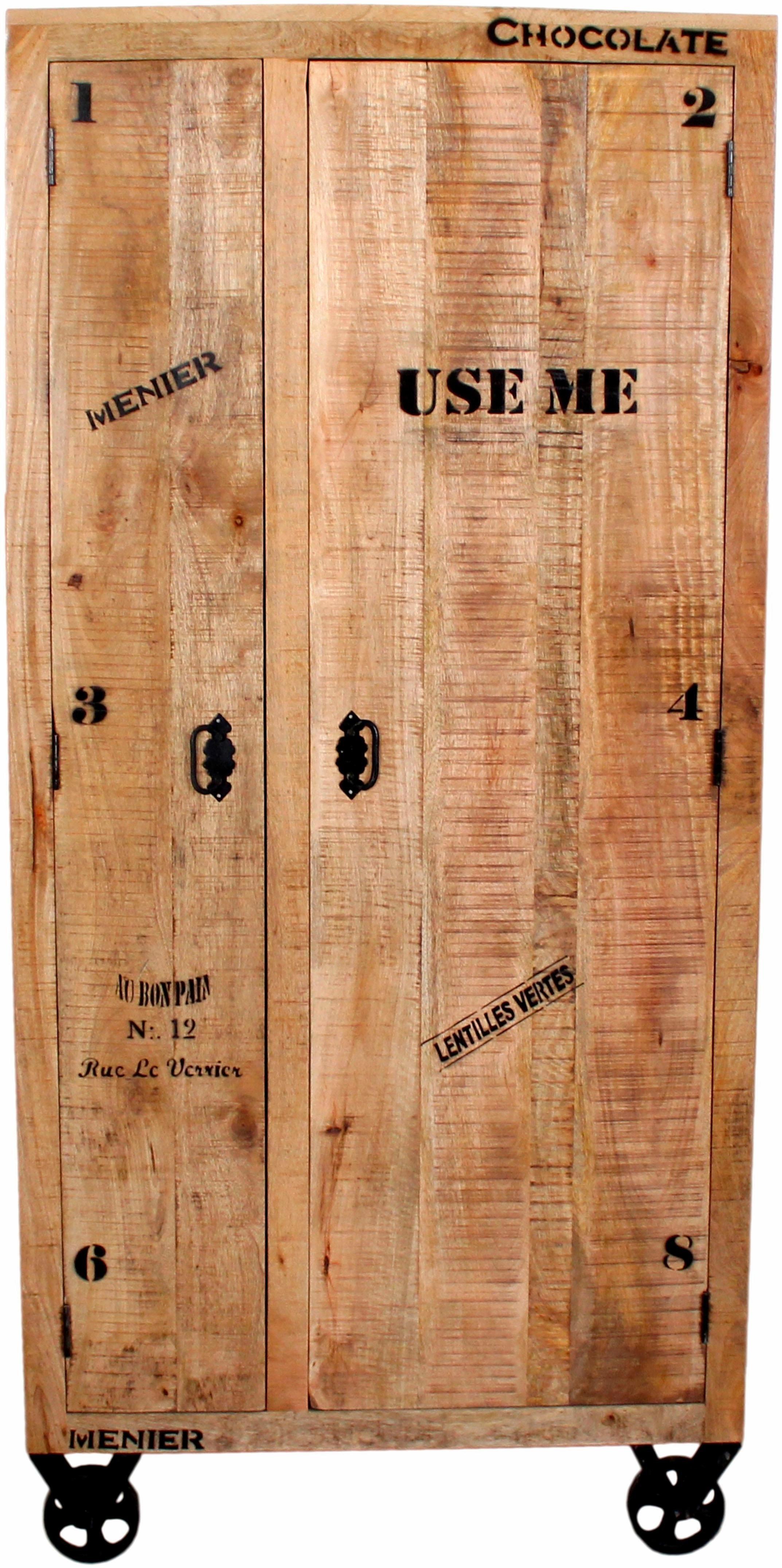 SIT Garderobenschrank »Rustic«, im factory design, Breite 90 cm | Flur & Diele > Garderoben > Garderobenschränke | Recyceltes | SIT