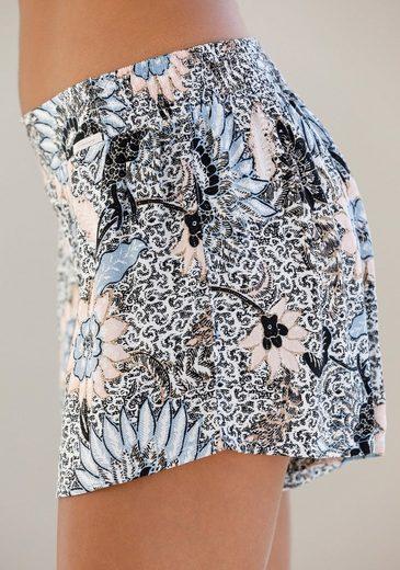 Skiny Schlafhose mit Allover-Blumenprint