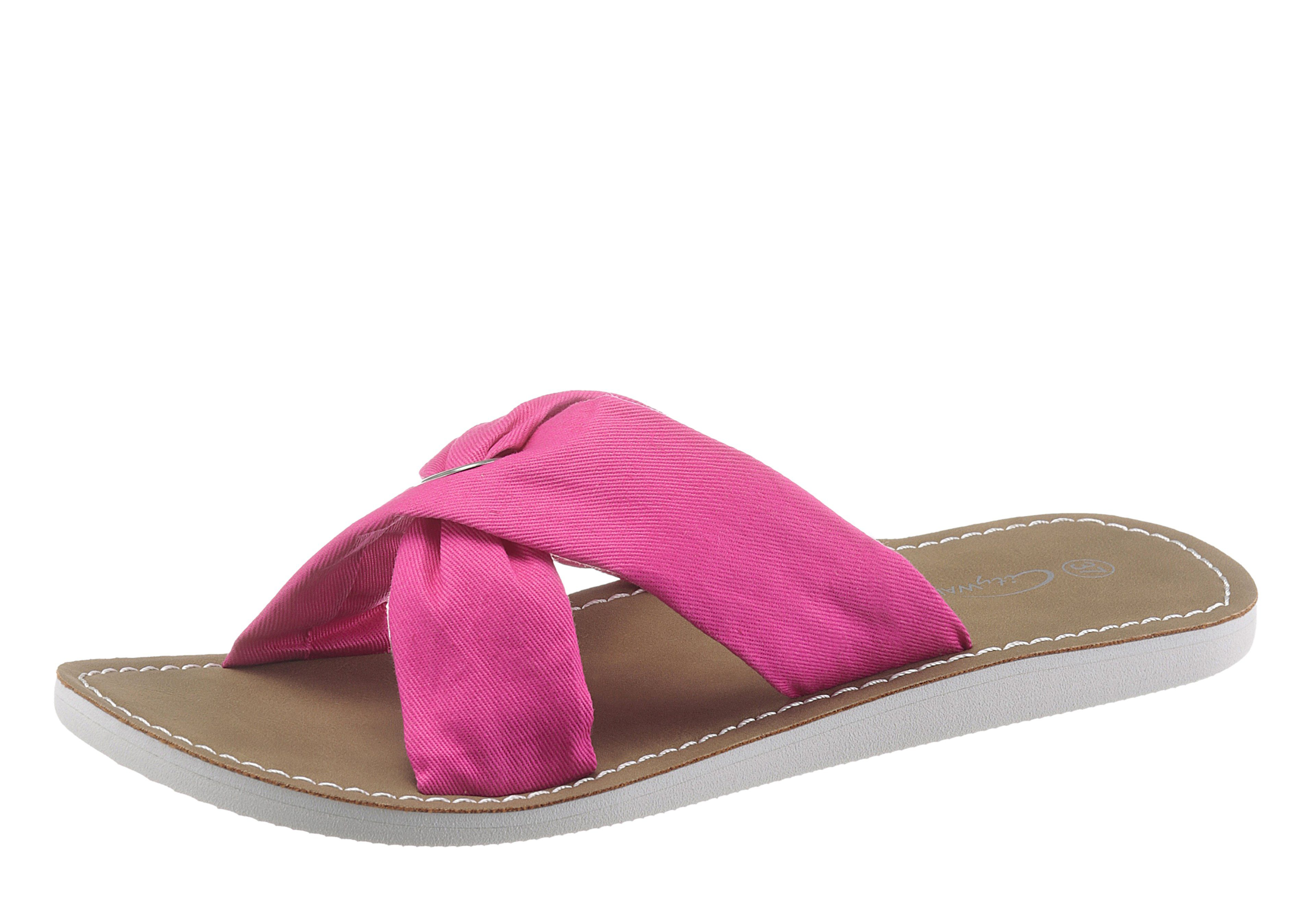 CITY WALK Pantolette, mit Kreuzbandage, rosa, EURO-Größen, rosa