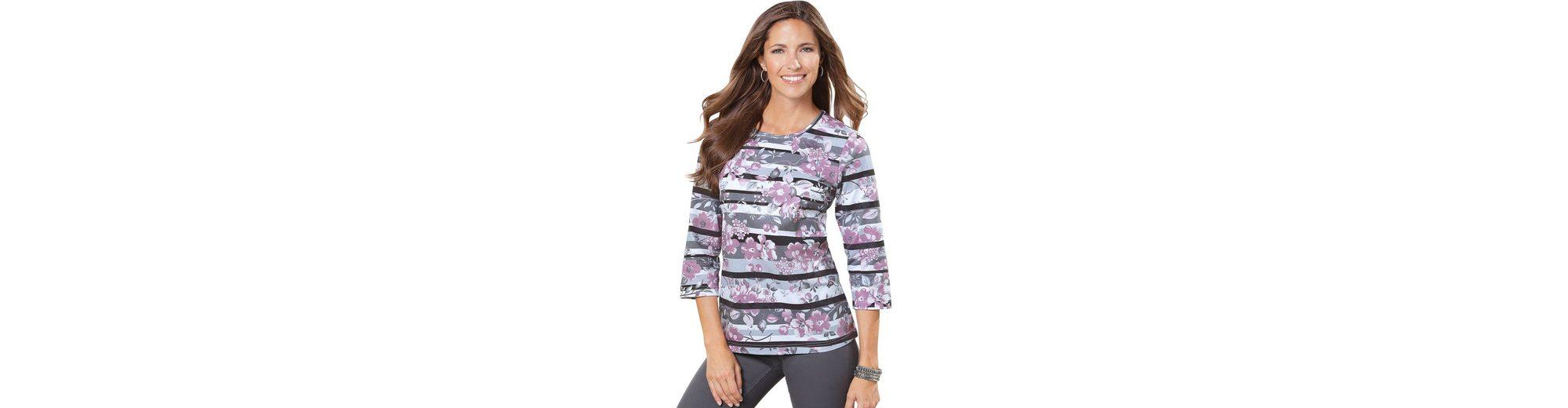 Classic Basics Shirt im Streifen- und Blütendessin Billig Verkauf Fabrikverkauf Auslass 6yD3XXbz8