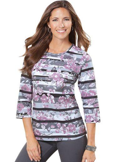 Classic Basics Shirt im Streifen- und Blütendessin