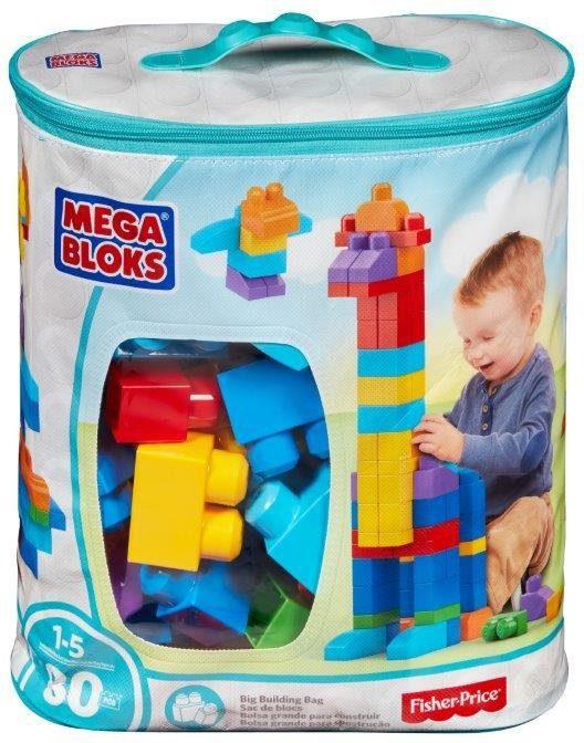 Fisher Price, Bausteinetasche, »Mega Bloks, First Builders Large Grundfarben«