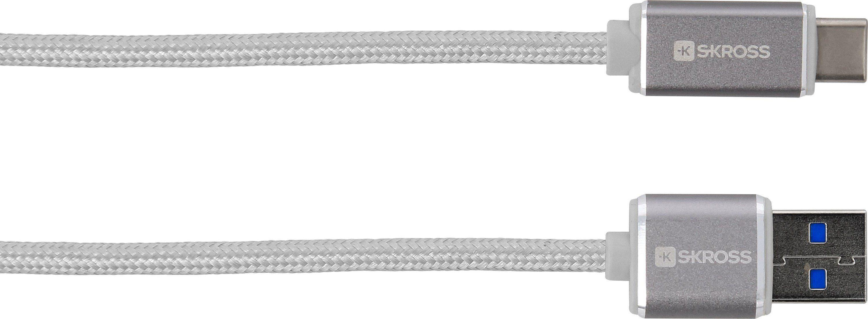 SKROSS Lade- und Synchronisationskabel »Steel Line - Charge'n Sync USB Type-C (3.0)«