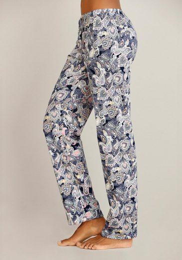 Calida Pyjamahose Mit Paisleymuster