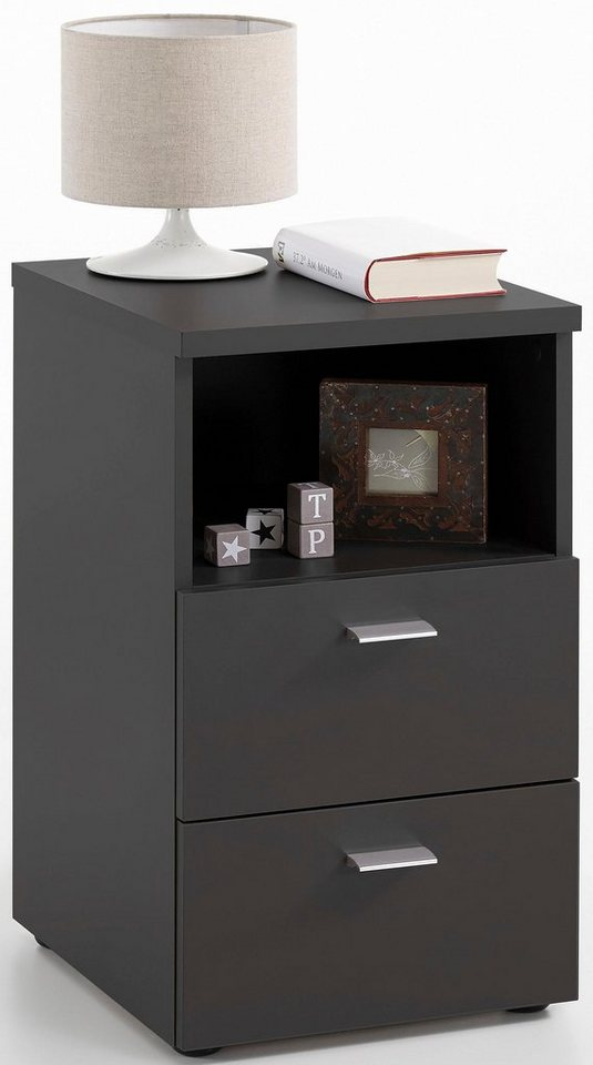 fmd nachttisch breite 35 cm melaminoberfl che suva online kaufen otto. Black Bedroom Furniture Sets. Home Design Ideas