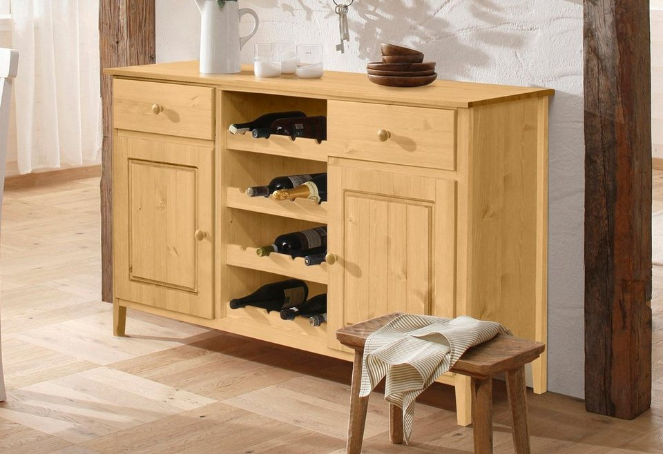 home affaire sideboard anneke mit f chern f r 16 weinflaschen online kaufen otto. Black Bedroom Furniture Sets. Home Design Ideas