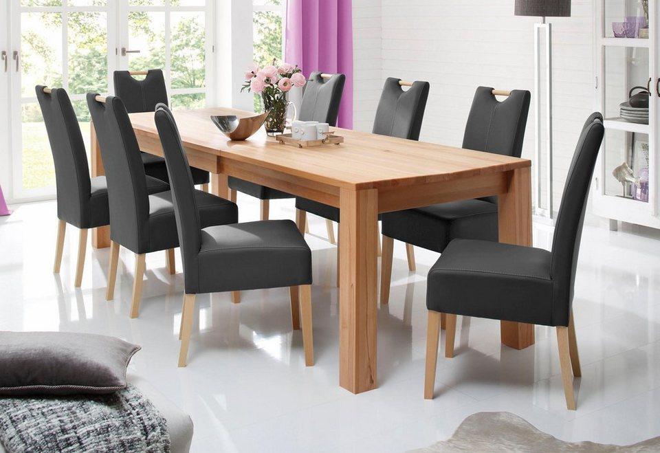 home affaire stuhl almai im 2er 4er oder 6er set bezogen mit echtem leder oder kunstleder. Black Bedroom Furniture Sets. Home Design Ideas