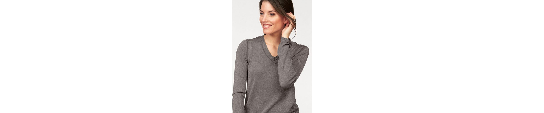 Tamaris V-Ausschnitt-Pullover, aus Glanzgarn