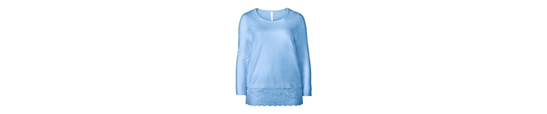 sheego Basic Longshirt, mit Spitze