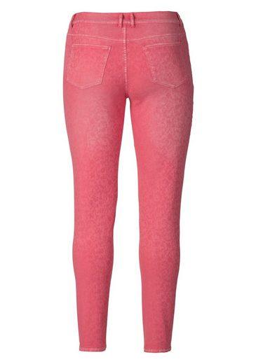 sheego Style 5-Pocket-Hose, mit tollem Jaquardmuster