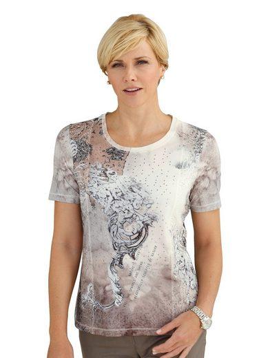 Mona Shirt mit aufwändigem Druckmix