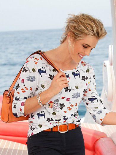 Mona Shirt mit farbenfrohem Phantasie-Druck