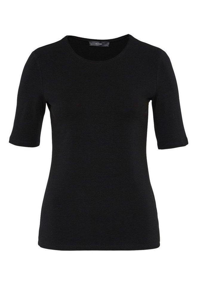 HALLHUBER T-Shirt mit Rundhalsausschnitt in schwarz