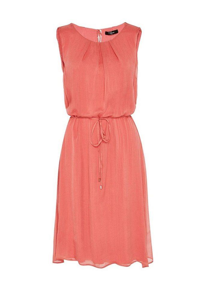 HALLHUBER Kleid aus Seidenchiffon in erdbeere