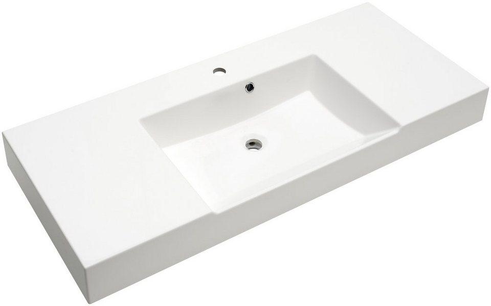 Pelipal Mineralgussmarmor Waschtisch / Waschbecken »Solitaire 7020« Breite 120 cm in weiß