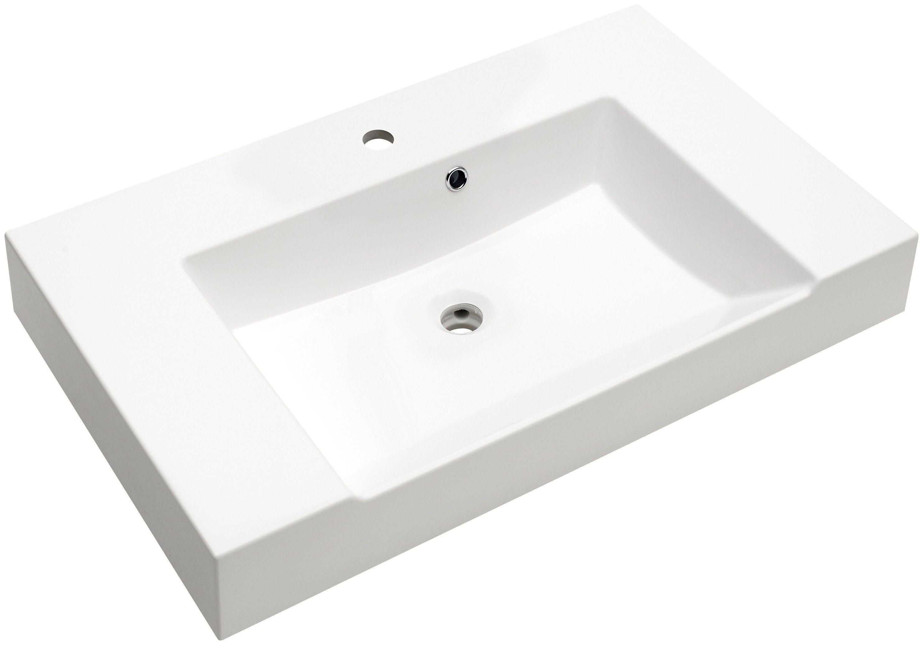 Mineralgussmarmor Waschtisch / Waschbecken »Solitaire 7020« Breite 86 cm