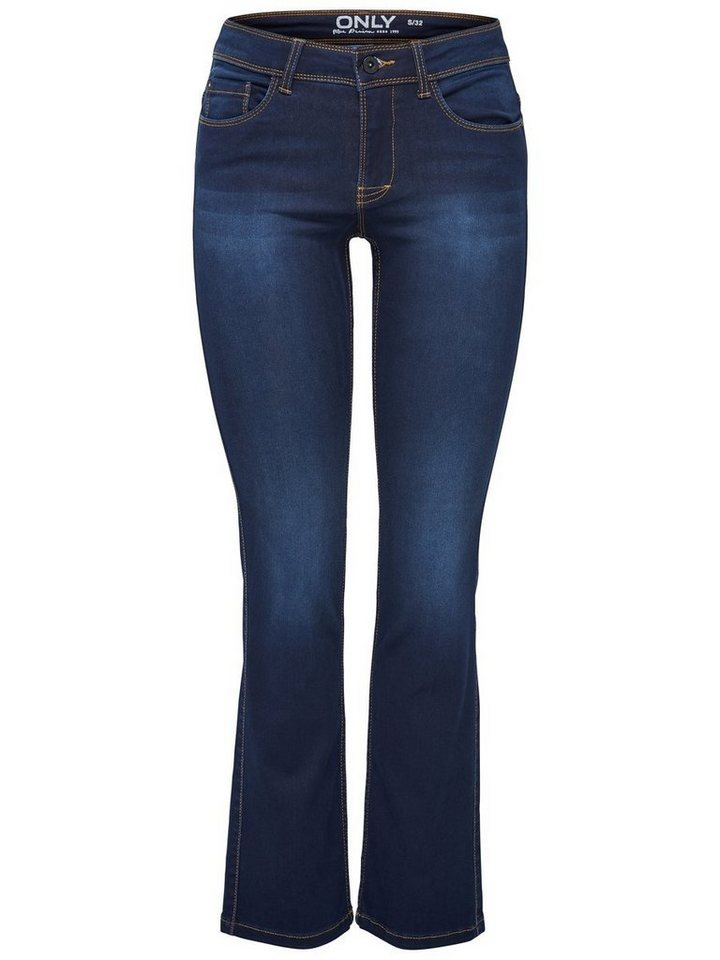 Only Ultimate soft Straight Fit Jeans in Dark Blue Denim
