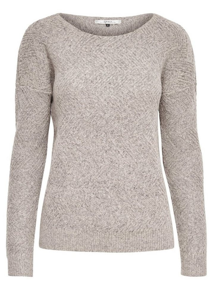 Only Einfarbiger Strickpullover in Pumice Stone