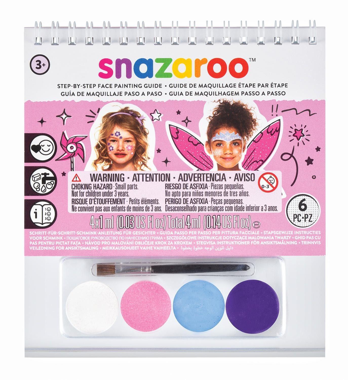 """snazaroo Gesichtsschmink Buch """"Mädchen"""" inkl. Schminke und Pinsel"""