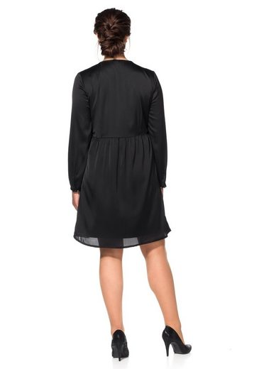 Sheego Style Satin Dress, Lined With Jersey Ware