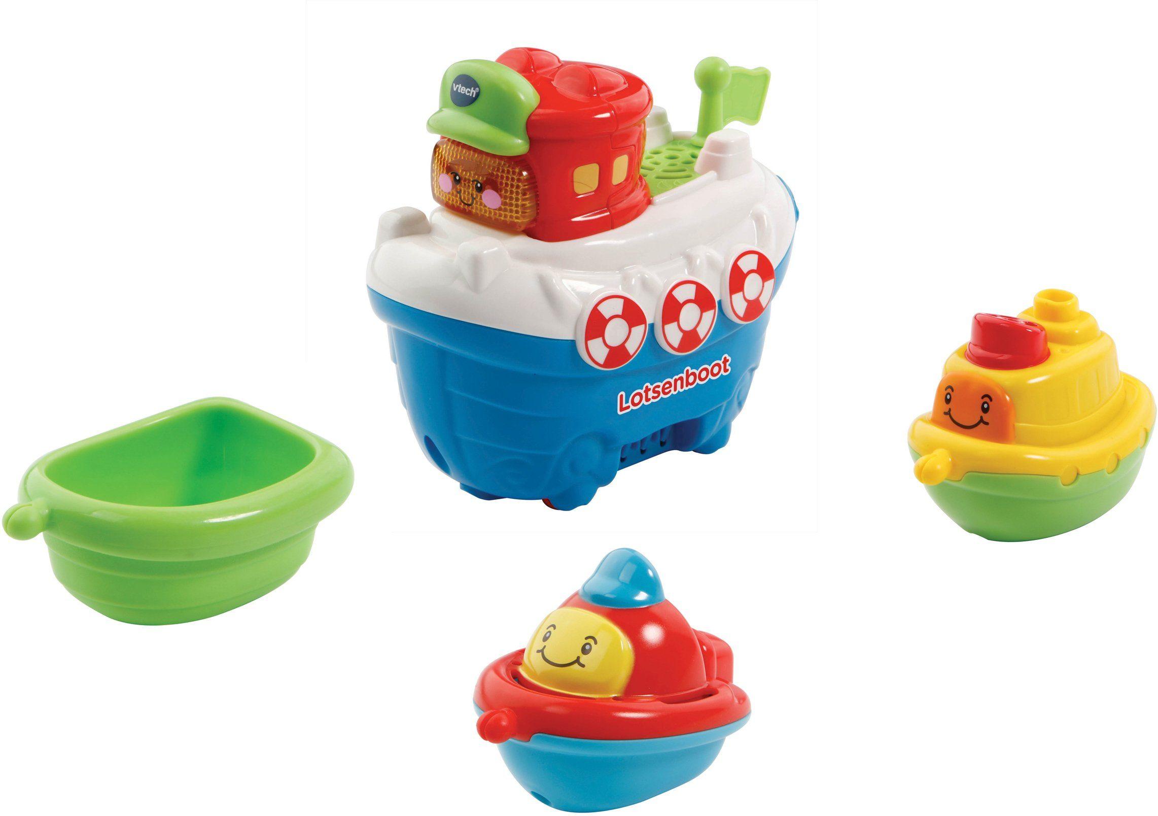 VTech Badespielzeug mit Licht und Sound, »Tut Tut Baby Badewelt Lotsenboot mit Freunden«