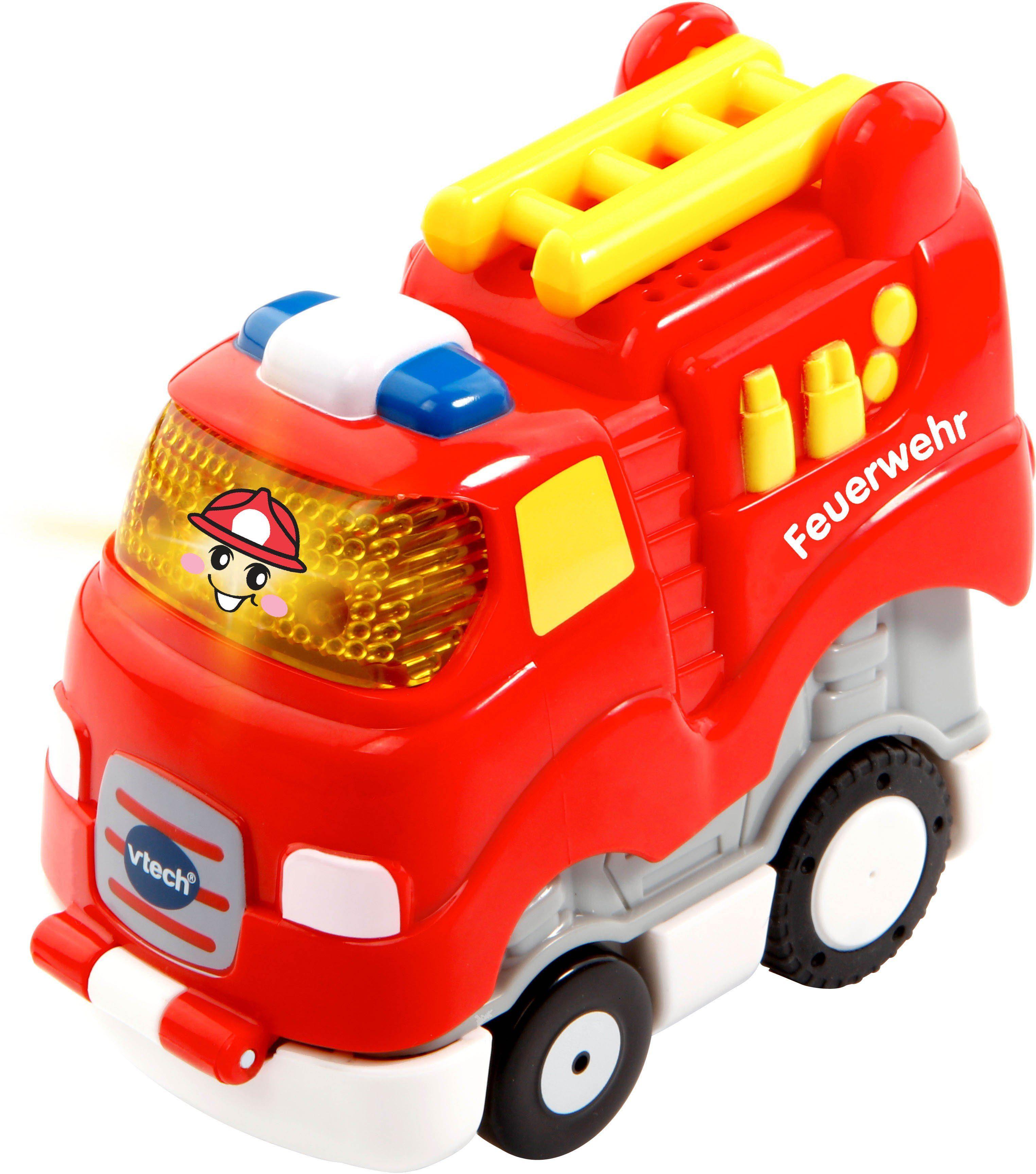 VTech Spielfahrzeug mit Licht und Sound, »Tut Tut Baby Flitzer Press & Go Feuerwehr«